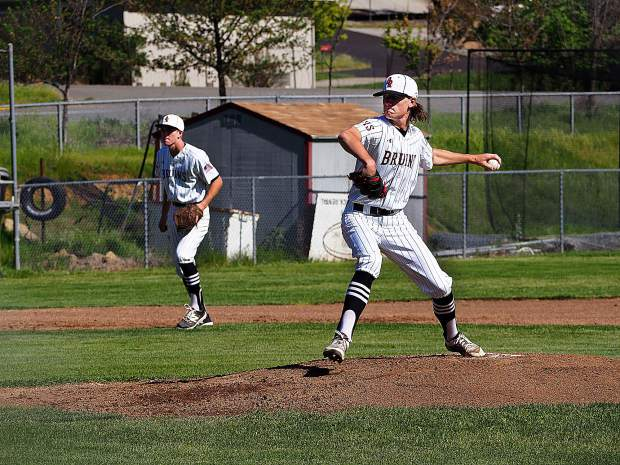 Bear River's Tyler Know delivers a pitch during a game against Foothill earlier this season.