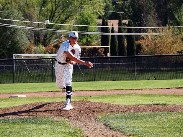Bear River's Colton Jenkins delivers a pitch during a game against Foothill earlier this season. The Bruins will travel to face Linden the first round of the Division V playoffs Tuesday.