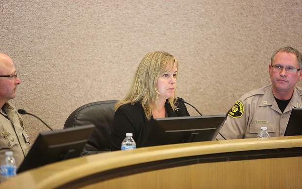 Trisha Tillotson, Nevada County Public Works Director, was also on hand to give information about the possibility of public and private evacuation routes.