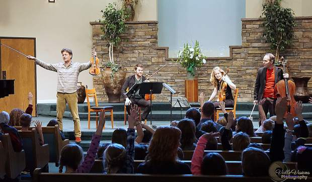InConcert Sierra presented its annual Third Grade Education Concerts in March in Grass Valley. The St. Lawrence Sting Quartet performed two concerts to a total of 650 students from schools across western Nevada County.