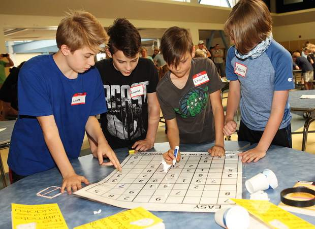 Nevada City School of the Arts were four sixth-grade boys, Preston Osypowski, Connor Heenan, Emmet Jones and Liam Quinn, who finished in 22 minutes and 19 seconds. They had been coached for three months by math and science teacher Ben Preston.