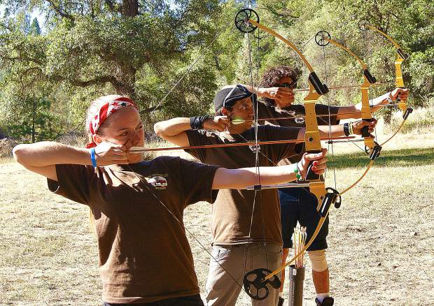 Archery is just one of the skills foster kids can master at Camp Rockin' U.