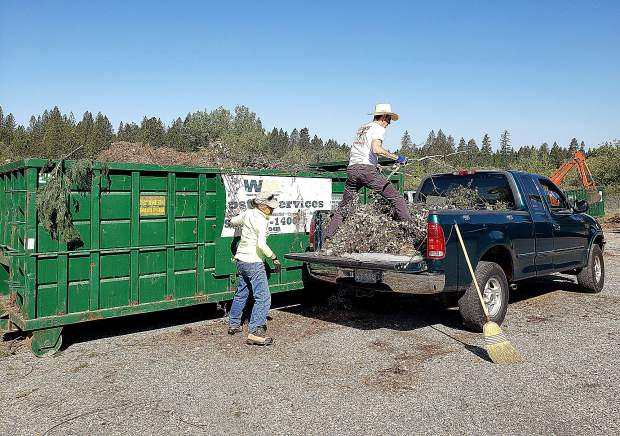 A grant provided funding for the green waste disposal project happening this weekend and the next in Nevada County