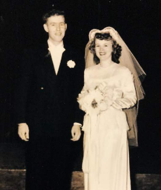 Wally and Mary Krill on their wedding day in 1948.