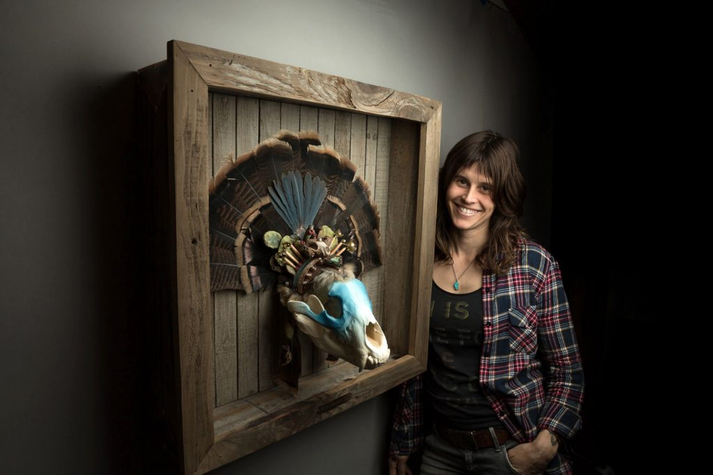 Nevada City artist Hollie Dilley is making a name for herself in the art world with her unique pieces. A show of some of Dilley's old and new work is on display at the Chambers Project in Nevada City through Memorial Day weekend.