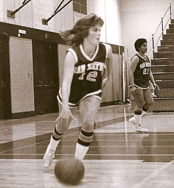 Donna Imsand Cirino will be inducted today into the Daly City/Bay Area Hall of Fame for her athletic prowess on the basketball court at Westmoor High School.