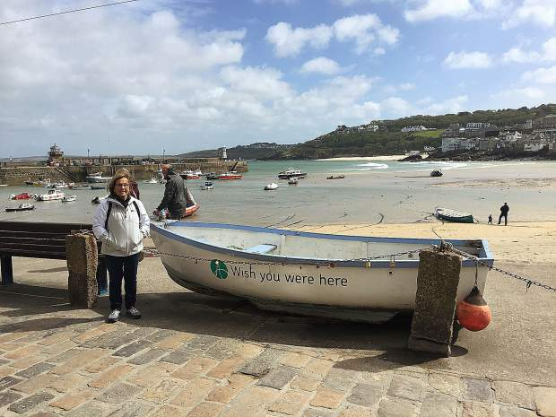 Nevada County Contractors' Association Executive Director Barbara Bashall visited friends and family she hadn't seen since childhood during her trip to the United Kingdom, which included a stop at St. Ives Cornwall.