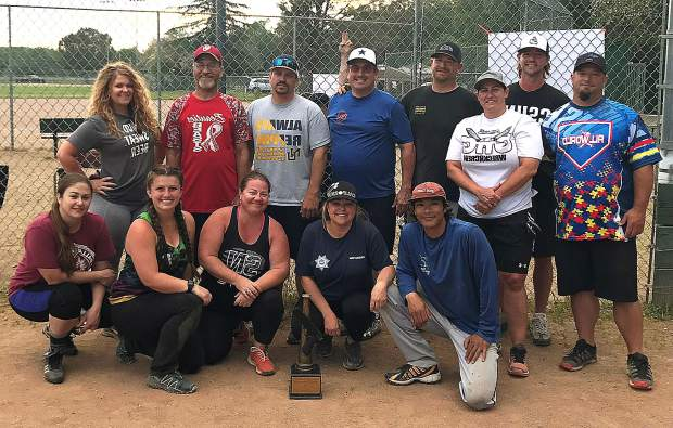 The Nevada County Probation Department's softball team was reserve champion in the fourth annual Nevada County Heroes Co-ed Softball Tournament.