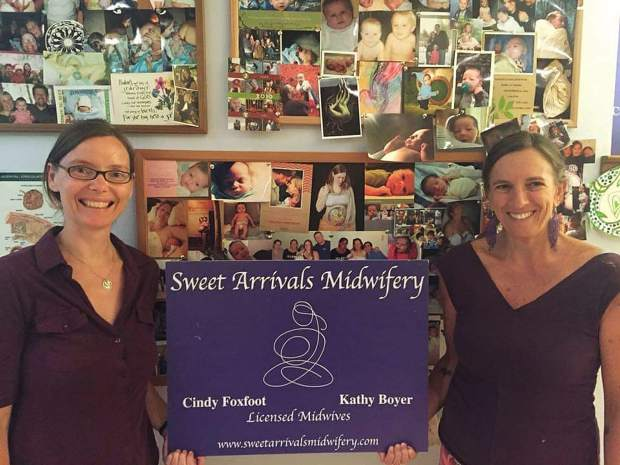 Kathy Boyer, left, and Cindy Foxfoot, owners of Sweet Arrivals Midwifery.