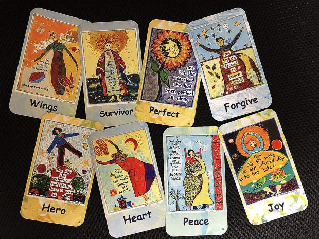 A sampling of affirmation cards created by Grass Valley artist Marylou Falstreau.