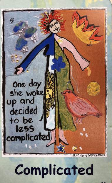 An example of one of Marylou Falstreau's 67 affirmation cards.