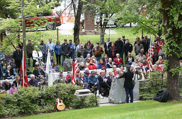 Over 100 veterans, friends, family and community members were in attendance of Monday morning's Memorial Day ceremony at Grass Valley's Memorial Park.