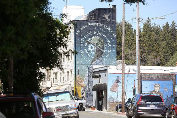 The Miles Toland mural joins downtown Grass Valley's murals.