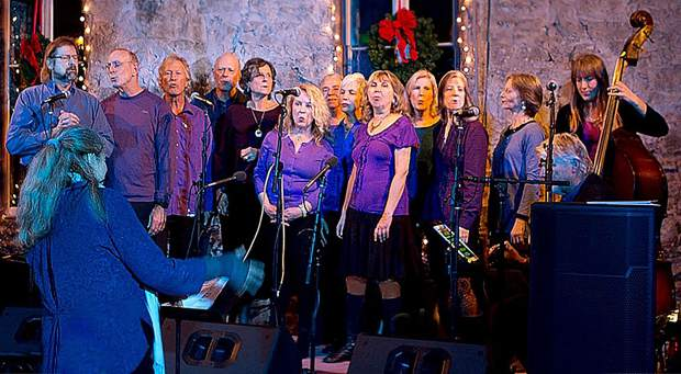 The New Peace Choir performed during last year's Village Market Day in Nevada City. This year's event is slated for Sunday.