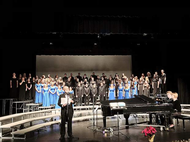 The Nevada Union Choir, shown here during its Christmas show, is ready to present its Spring Concert on Wednesday at the high school.
