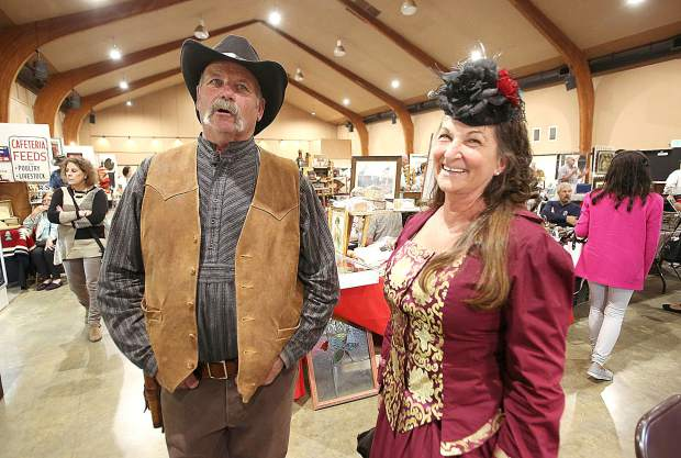 Organizers of last weekend's Grass Valley Old West Show at the Nevada County Fairgrounds wanted to spice things up with the addition of some living history folks walking throughout the displays dressed in their period correct attire.