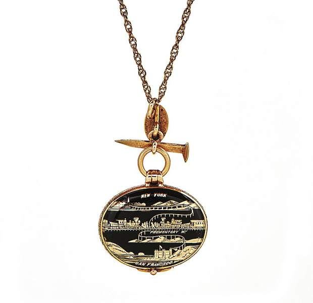 This locket was made of the same gold as the original Golden Spike used to unite the east and west portions of the Transcontinental Railway.