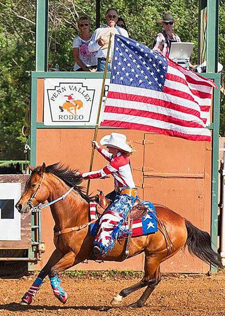 Patriotic symbols abound during the Penn Valley Rodeo, set for this weekend.