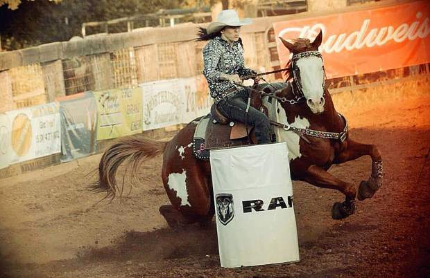 Barrel Racing is one of the featured events during the Penn Valley Rodeo.