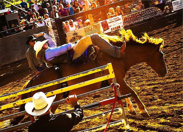 All it takes is eight seconds, but it's easier said than done during the Penn Valley Rodeo.