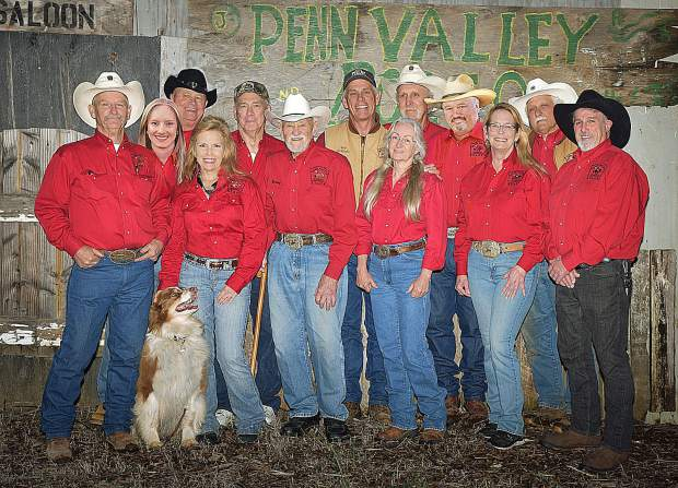 The Penn Valley Community Rodeo Association consists of, left to right, John Favetti, Ciara Fuller, Cindy Lackey, secretary and acting treasurer, Dale Mandle, Dave Summers, president, Patty Wilkins, vice president, Bob Champagne, Mike Frasu, Mark Frederick, Phil Easley, Teresa Dietrich and Frank Goss