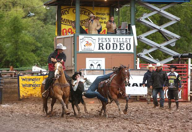Rain couldn't stop the 62nd annual Penn Valley Rodeo.