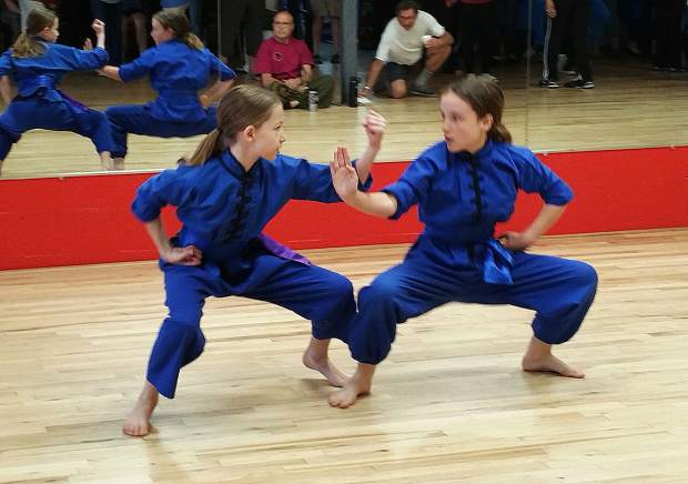 Gold Country Kiwanis hosted the Annual World Tai Chi and Qigong Day at the Training Zone in Grass Valley on April 27. Martial arts students show off their skills.