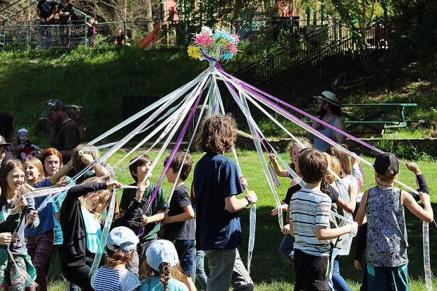Twin Ridges Home Study Charter School celebrates the 40th anniversary of the Maypole.