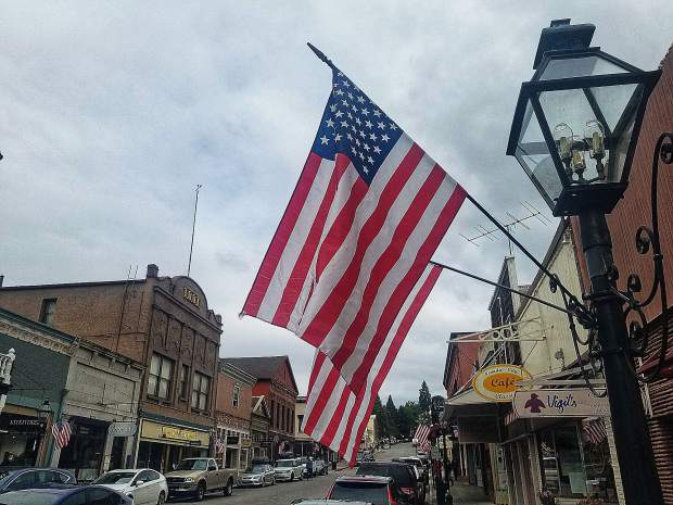 Memorial Day on Broad street in Nevada City.