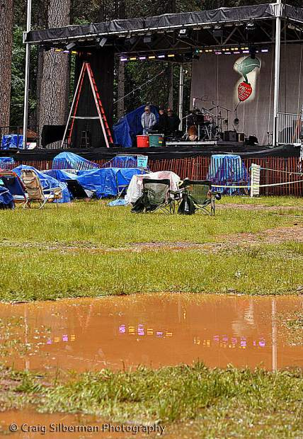 Rain day at the Strawberry Music Festival, held over Memorial Day weekend.