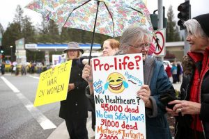 Pro-choice demonstrators rally in Grass Valley (VIDEO)