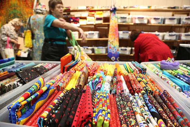 Quilt show attendees could stock up on their favorite colors and patterns made available by vendors at the annual Sierra Pines Quilt Guild Springtime in the Pines show.