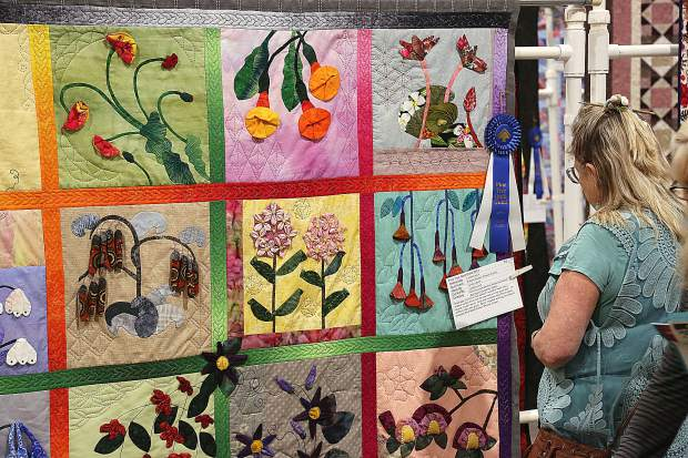 Quilts with many different colors, and pattern variations were on display for quilting enthusiasts to enjoy during the 2019 Pine Tree Quilt Guild's Springtime in the Pines show. Attendees were able to judge the quilts and vote for their favorites.