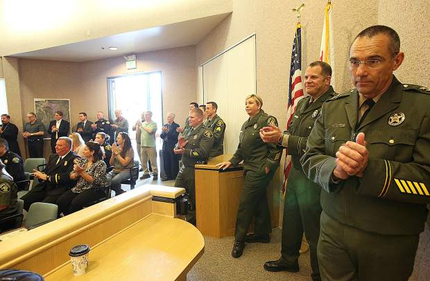 A room full of law enforcement officials and first responders were on hand to congratulate those additions and promotions within the Nevada County Sheriffs Office Wednesday.
