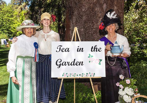 Complimentary cups of tea will be available in the Empire Mine State Historic Park's tea garden, served by docents dressed in period attire, during Saturday's Springtime at the Mine event.