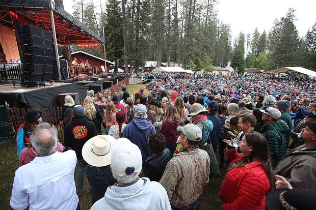 Thousands of attendees filled the lawn at the Nevada County Fairgrounds to listen to the main stage acts of the 2019 Spring Strawberry Music Festival May 25.
