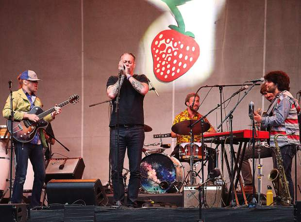 The 2019 Spring Strawberry Music Festival made its way back to Grass Valley over the weekend for its 69th festival in 38 years. Over 20 acts took the main stage, including returning festival favorite the California Honeydrops who featured a song with singer and harmonica player Javier Matos during Saturday evening's lineup.