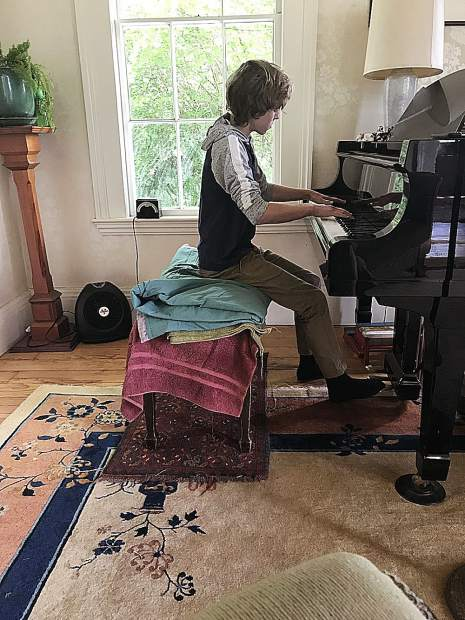 Young musicians prepare for the Sierra Student Showcase which will be held this Saturday at the Unitarian Universalist Community of the Mountains in Grass Valley.