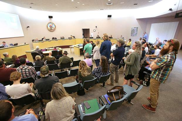 Tuesday's Board of Supervisors meeting regarding the draft cannabis ordinance was nearly standing room only and had a public comment period that lasted over two hours.