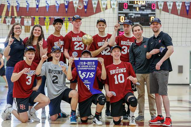 Bear River's boys volleyball team topped Ripon Christian, 25-22, 22-25, 25-23, 25-17, to win the Sac-Joaquin Section Division III Championship.
