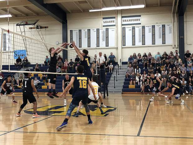 The No. 1 seeded Nevada Union Miners powered past No. 8 Laguna Creek in straight sets, 25-18, 25-16, 25-9, Thursday night to advance to the Sac-Joaquin Section D-II semifinals.