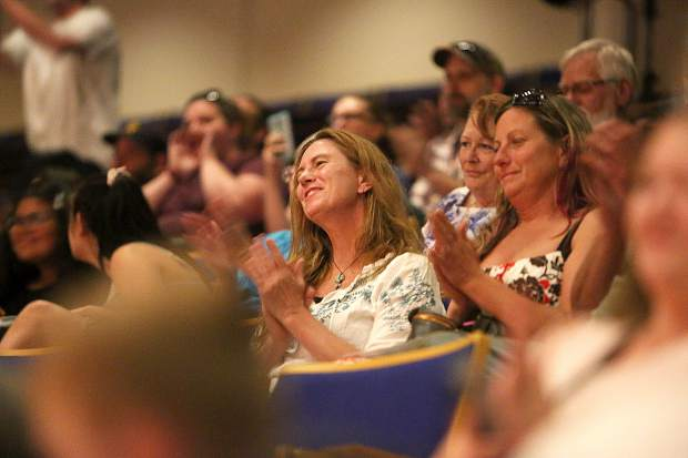 Friends and family applaud the Adult Education graduates of 2019 during Tuesday's ceremony at the Don Baggett Theatre.