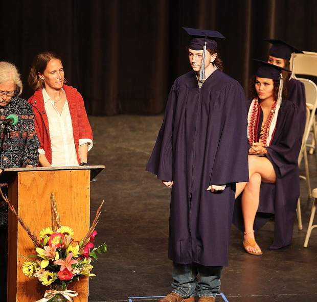 James R. PIlcher is called up to receive his diploma.