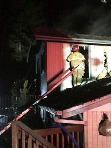 Late-night fire guts residence in Alta Sierra