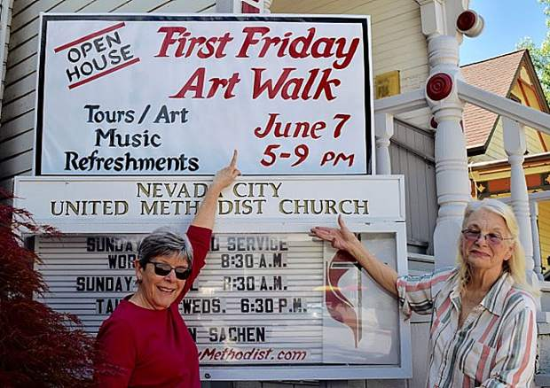 The United Methodist Church in Nevada City is getting prepped for Friday's First Friday Art Walk.