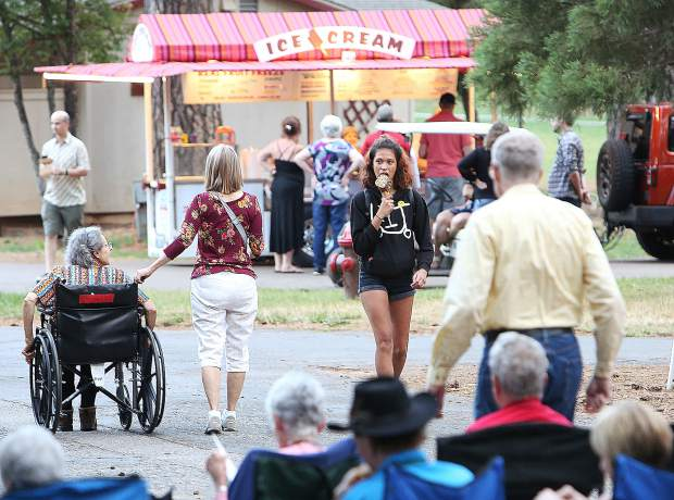 Lazy Dog Chocolateria was on hand to provide ice cream for the outdoor evening event full of music and libations. The Brass Brats and Beers event was part of the Summerfest 2019 series of shows that pairs music with beer and food.
