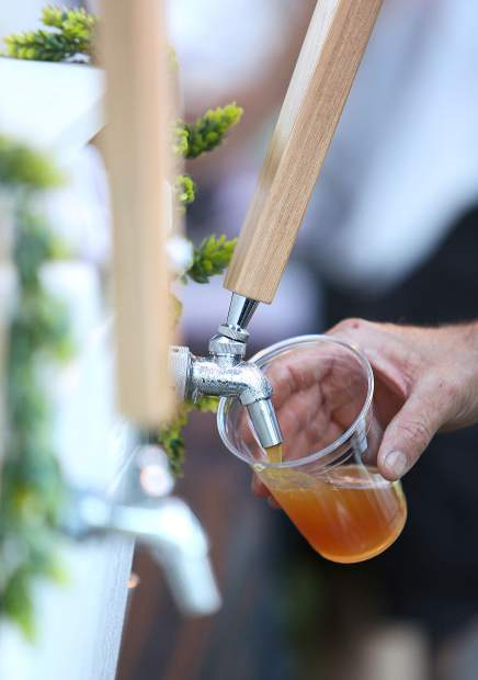 Grass Valley Brewing's Grateful Haze was one of the popular beers being poured during the Music in the Mountains' Brass Brats and Brews event held at the Nevada County Fairgrounds.