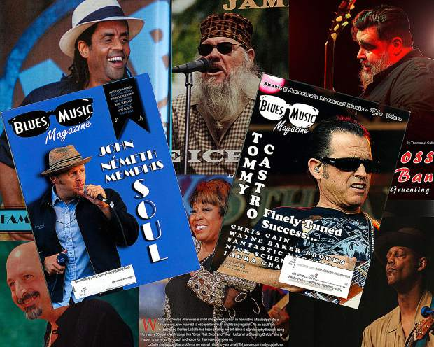 Mike's photos have been used for the cover of Blues Music Magazine and to illustrate many stories in the magazines over the years.