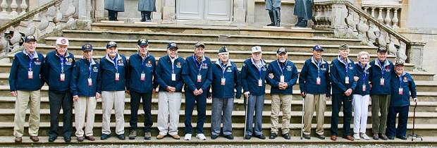 Sixteen veterans were brought over to the anniversary ceremonies through the Best Defense Foundation.