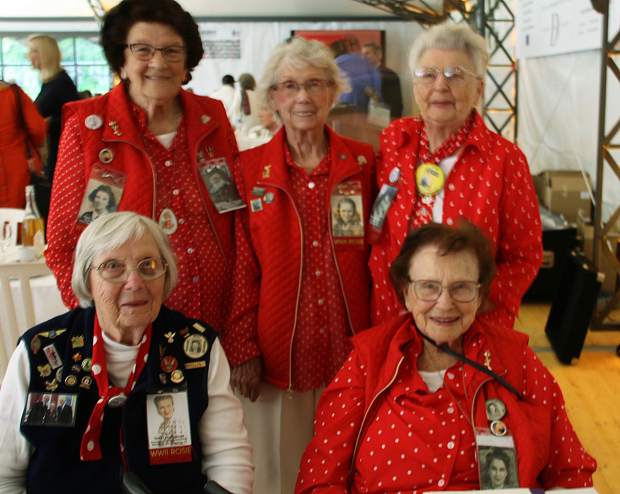 "Rosie the Riveters made a return to Normandy. ""We wanted to do our part for the war,"" said 92-year-old Marion Wyun. They all agreed that it was a thrill to be in Normandy."